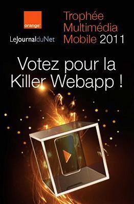 illustration de WebApp et NFC : votez pour ocontact au prix du public des Trophées Internet Mobile d'Orange